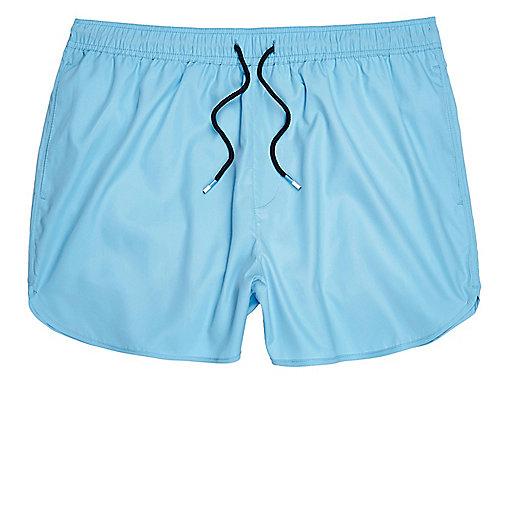 Sky blue short swim trunks