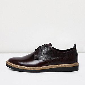 Bordeauxrode leren nette schoenen