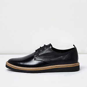 Black high shine leather formal shoes