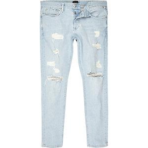 Sid – Zerrissene Skinny Jeans in heller Waschung