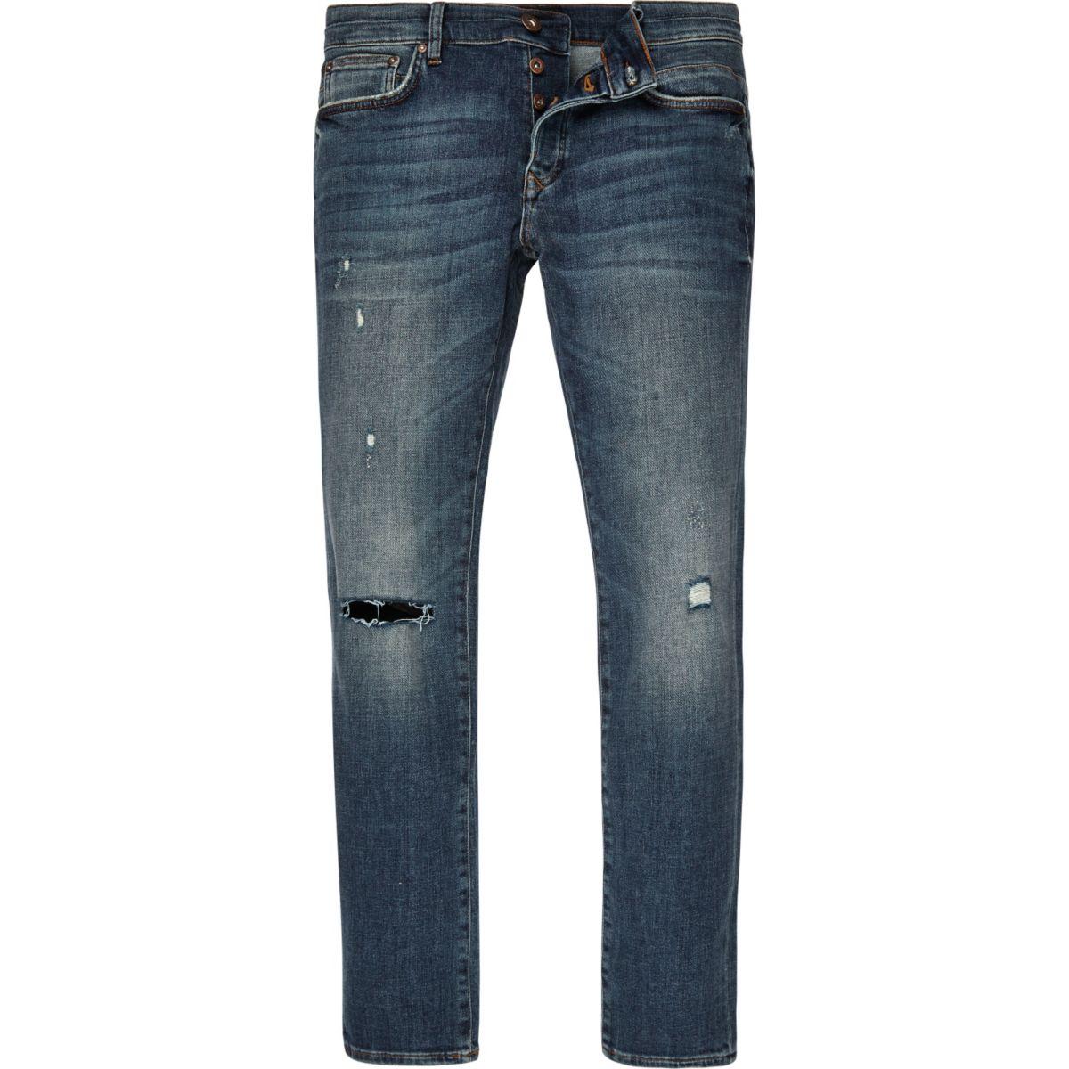 Sid – Jean cigarette skinny délavage bleu moyen