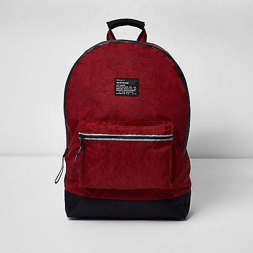 Dark red washed backpack
