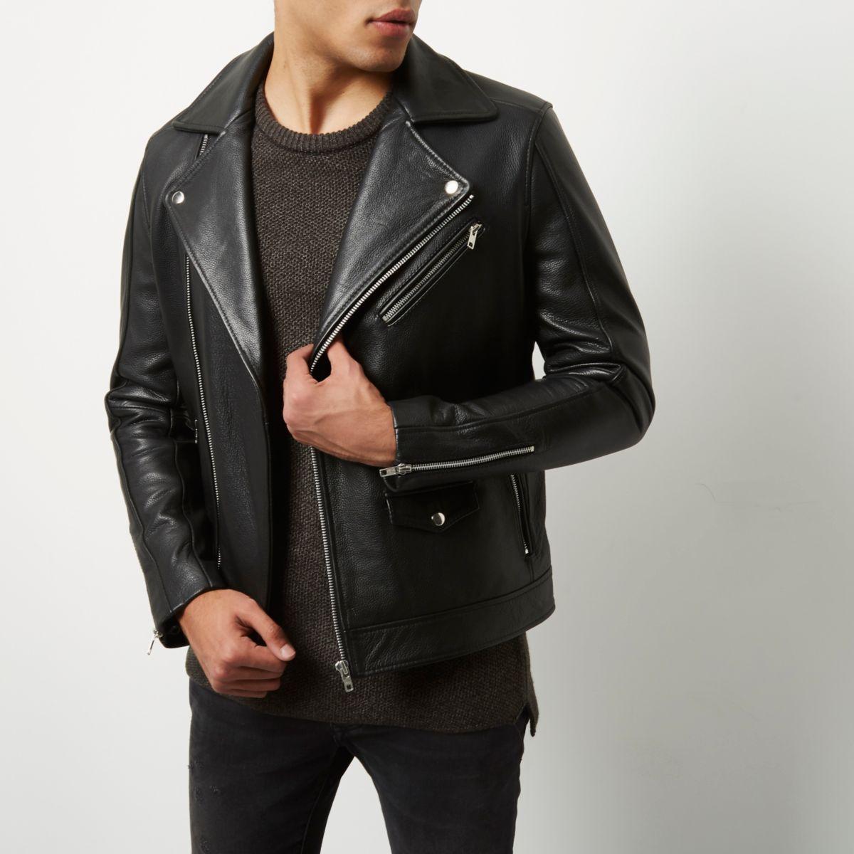 Perfecto en cuir noir