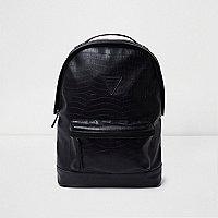 Black crocodile effect backpack