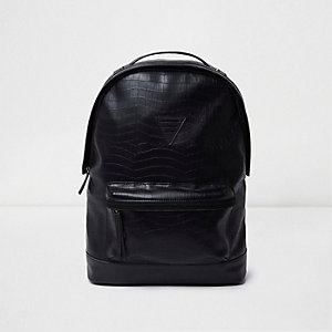 Black crocodile effect backpack