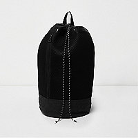 Duffle-Bag aus schwarzem Mesh
