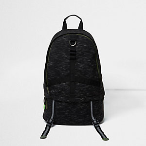 Dark grey jersey sports backpack
