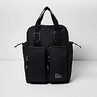 Black hybrid bag and backpack