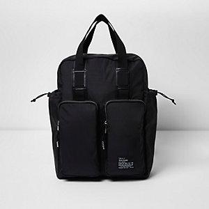 Zwarte hybride tas en rugzag