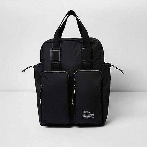 Black hybrid bag and backpack