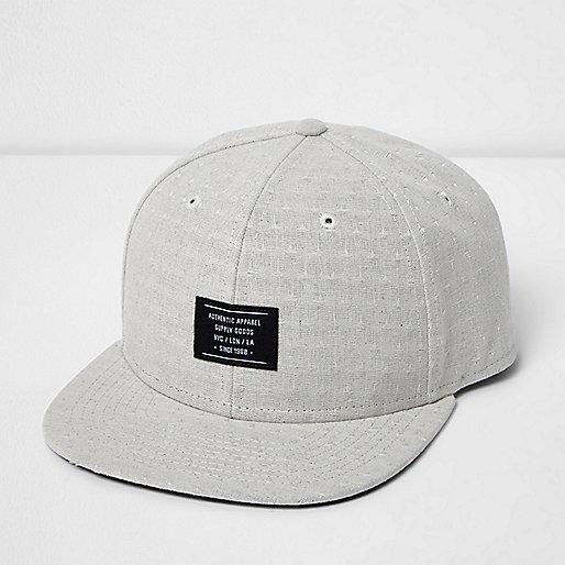 Ecru flat peak cap