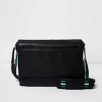 Black crossbody satchel bag