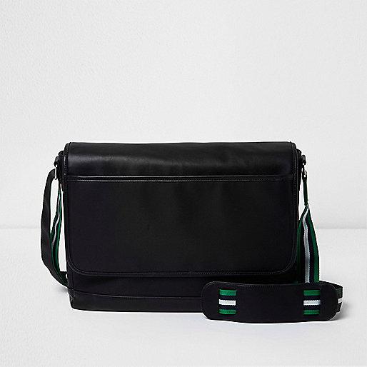Black crossbody satchel bag