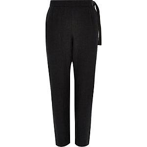 Pantalon Design Forum en lin noir