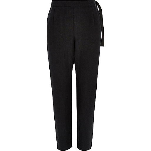 Black Design Forum linen trousers
