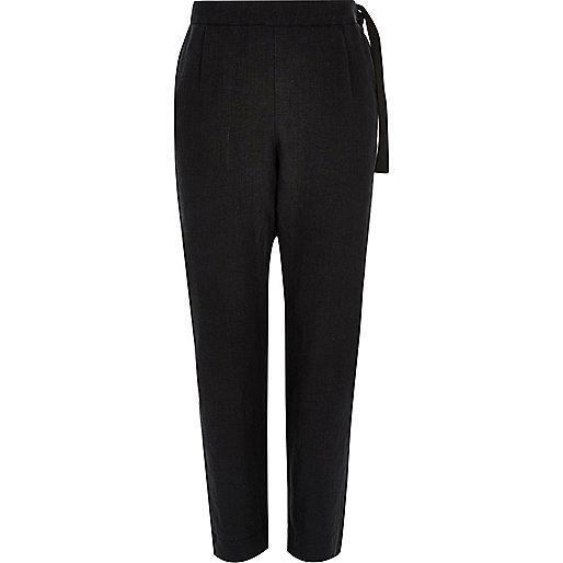 Black Design Forum linen pants
