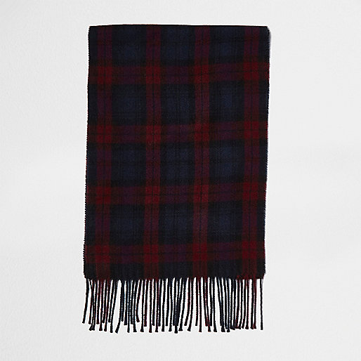 Red check scarf