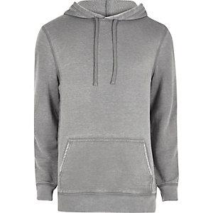 Grijze burnout hoodie