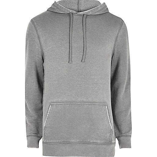 Grey burnout hoodie