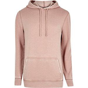 Roze burnout hoodie