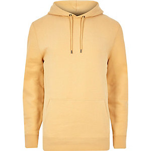 Sweat à capuche jaune casual