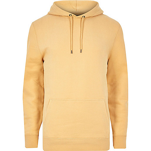 Yellow casual hoodie