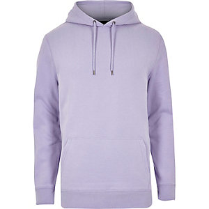 Sweat violet casual à capuche