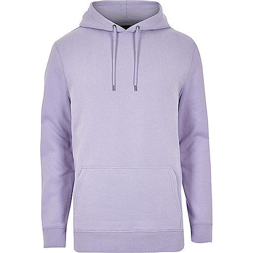 Purple casual hoodie