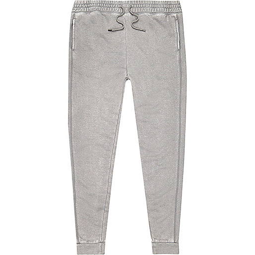 Grey burnout joggers