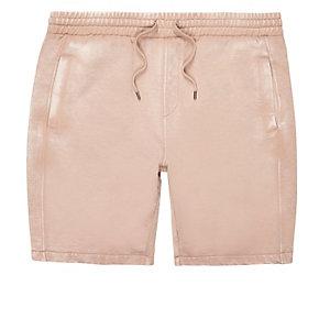 Light pink casual burnout shorts