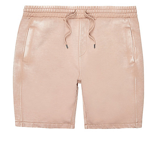 Light pink casual burnout shorts