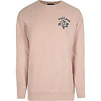 Pink back print sweatshirt