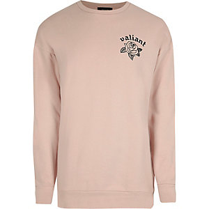 Pinkes bedrucktes Sweatshirt