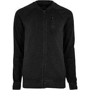 Blouson noir zippé