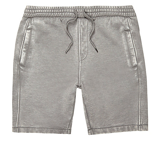 Grey burnout casual shorts