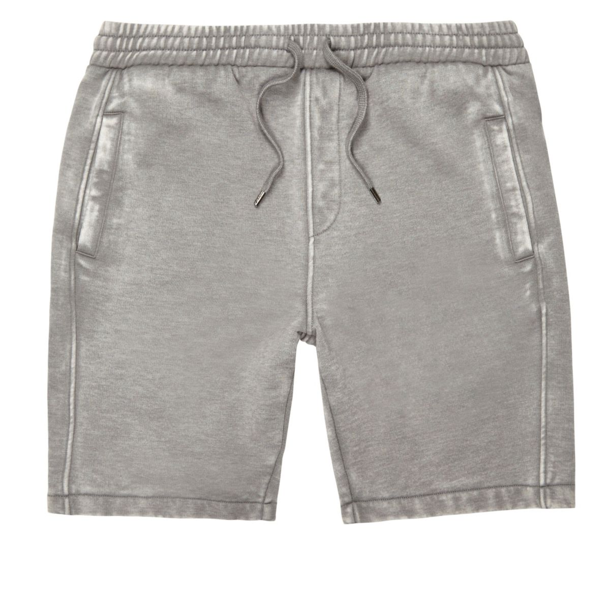Grey burnout casual shorts