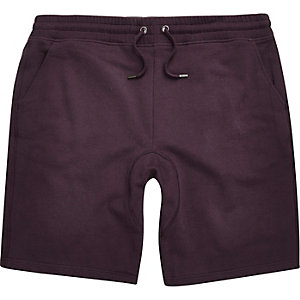Dark purple jogger shorts