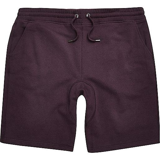 Dark purple jogger shorts