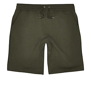 Dark green jogger shorts