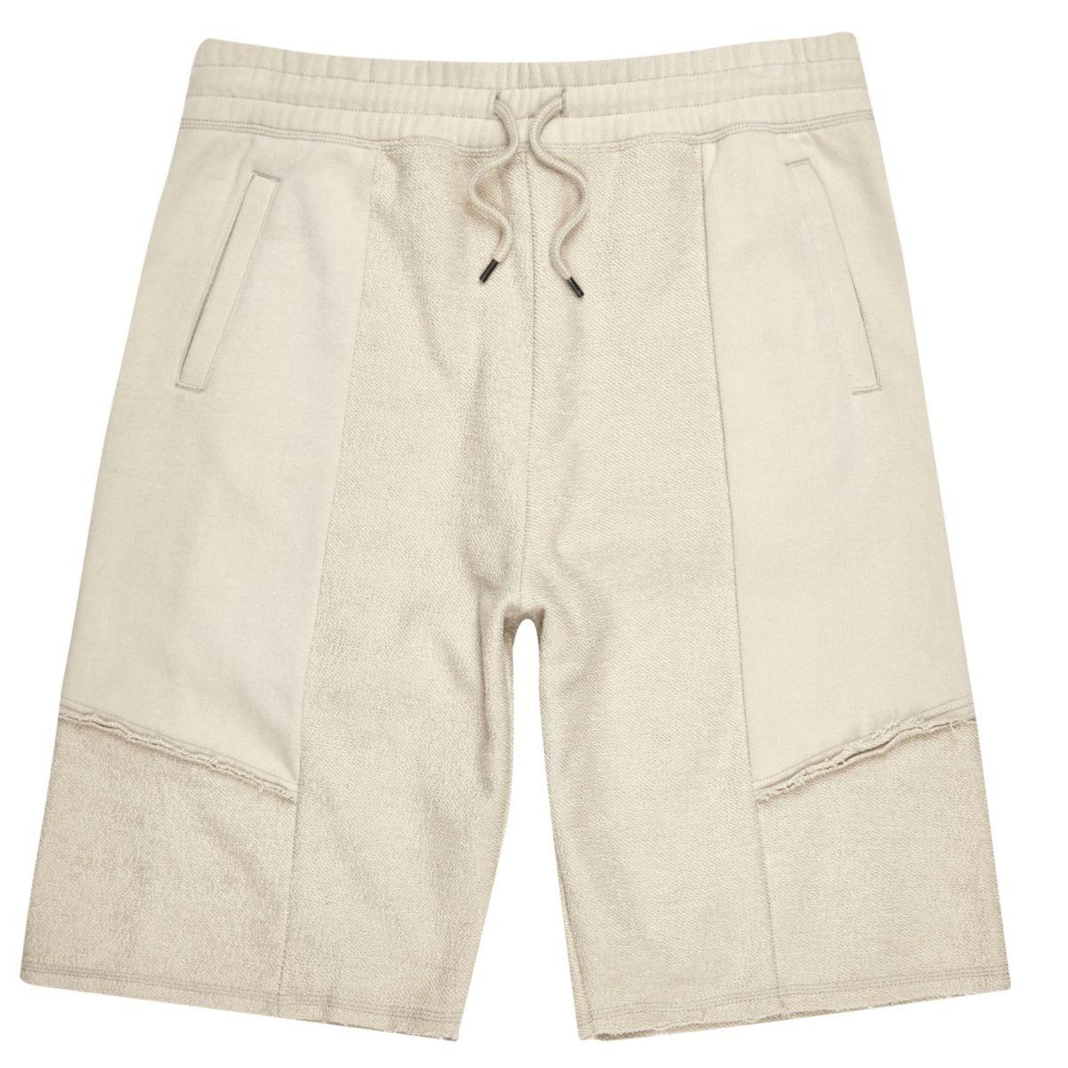 Stone reverse loopback shorts