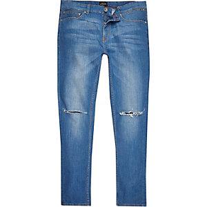 Jean skinny Sid bleu moyen déchiré