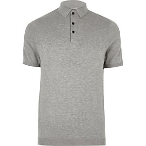 Grijs slim-fit poloshirt