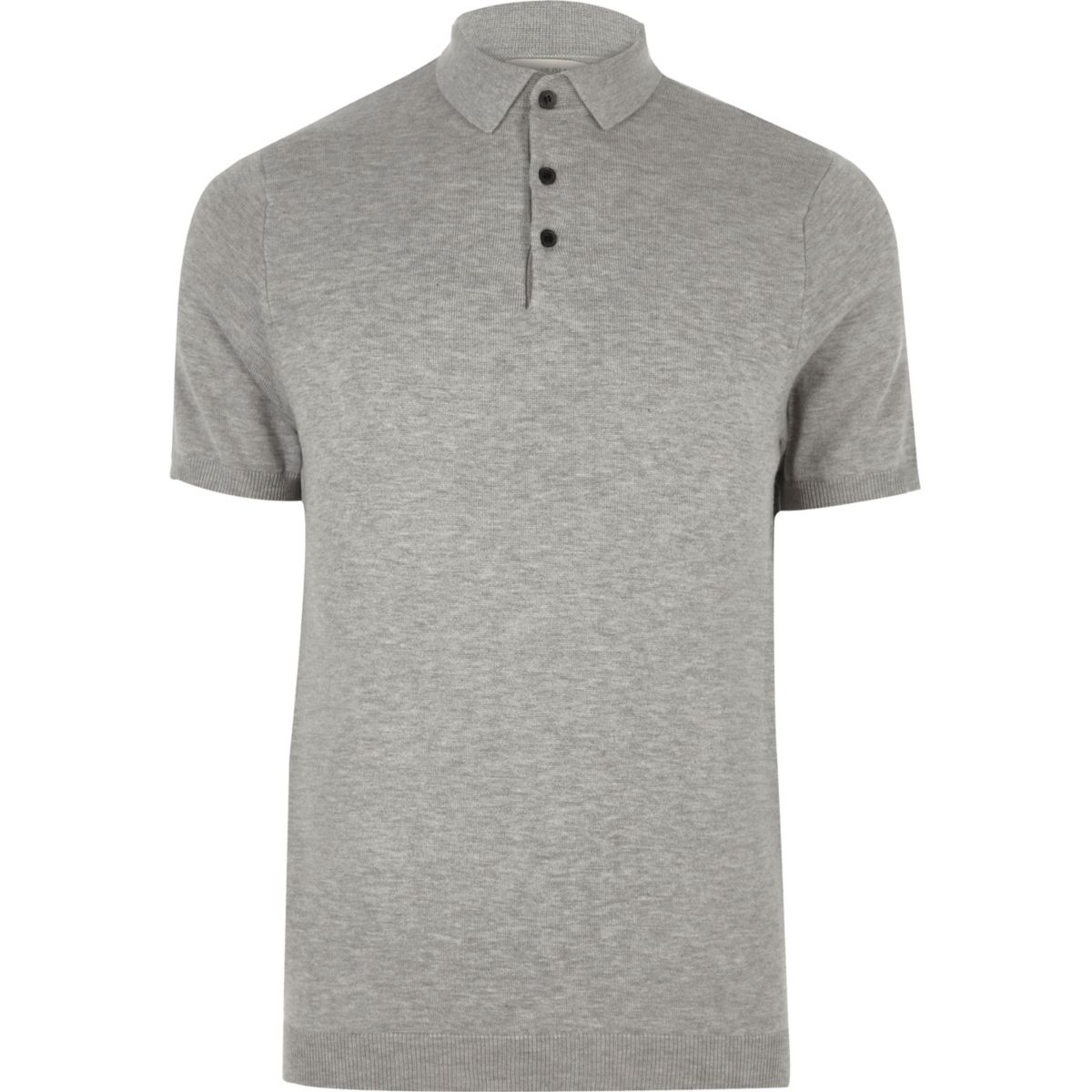 Grey slim fit polo shirt polo shirts sale men for Polo shirts for men on sale