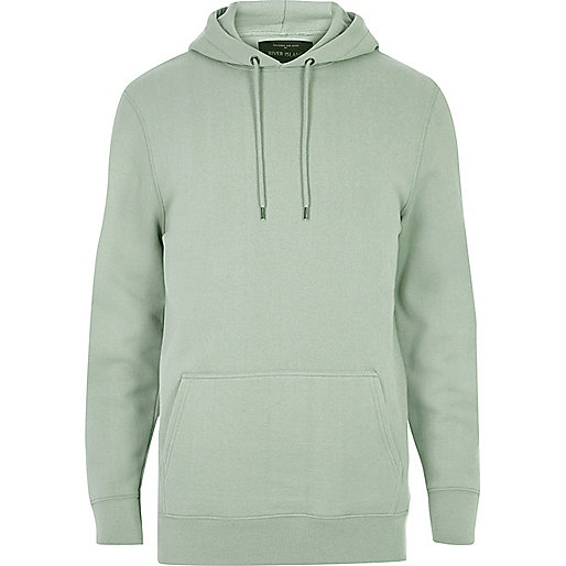 Light green casual hoodie