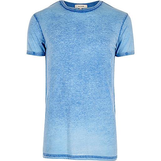 Dark blue burnout T-shirt
