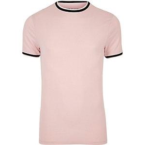 Figurbetontes T-Shirt in Rosa
