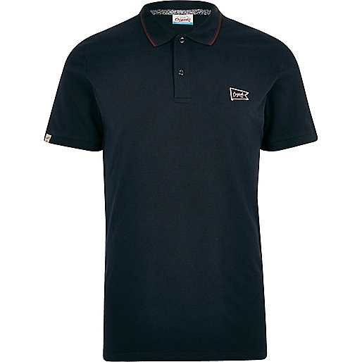 Navy Jack & Jones polo shirt