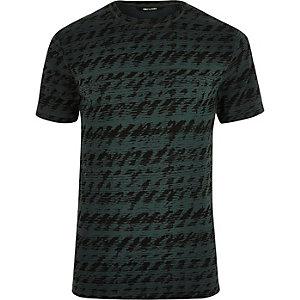 T-shirt bicolore vert et noir