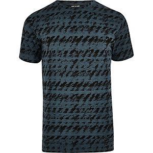 T-shirt Only & Sons imprimé abstrait bleu