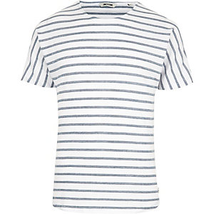 Blue Only & Sons stripe short sleeve T-shirt